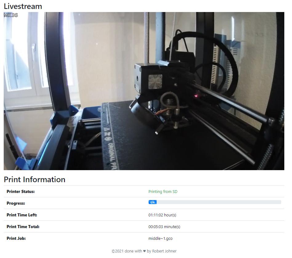 3D Printer Webcam